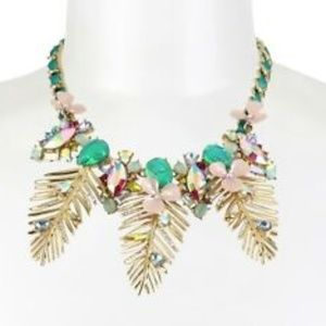 Betsey Johnson Flower Pineapple Palm Necklace